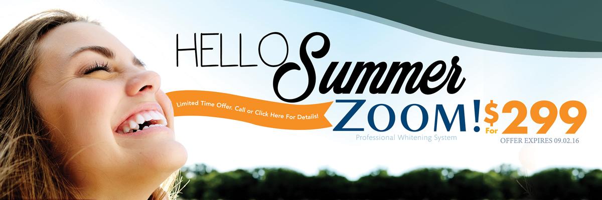 Dentist Oakville - Burloak Centre Dentistry - Summer Zoom Banner